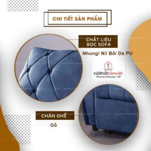 Sofa Bed | Sofa Giường | Sofa Đa Năng Tâm Việt SFB-06-2