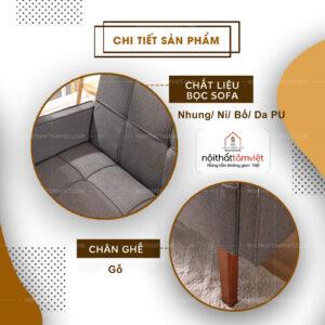 Sofa Bed | Sofa Giường | Sofa Đa Năng Tâm Việt SFB-07-2