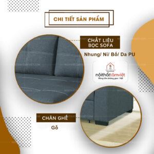 Sofa Bed | Sofa Giường | Sofa Đa Năng Tâm Việt SFB-19-2